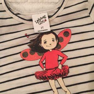 Shirts & Tops - Ladybug Girl Tee, Size 2